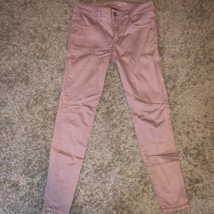 Rose gold super stretch AE jeggings